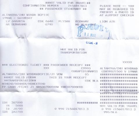 Tiket JT, CGK-SMG